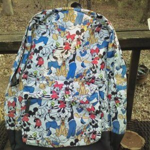 "Disney Mickey Mouse back pack 17""x 14""x 4.5"" new"